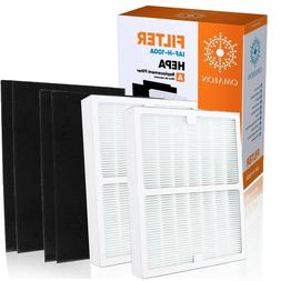 2 Pack Idylis Replacement Filter A IAF-H-100A Hepa & 4 Carbo