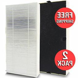 2 Pack Replacement Dual Action Cleaning Odor Filter HEPA Typ