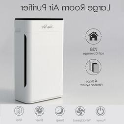 4 stage hepa air purifiers for large