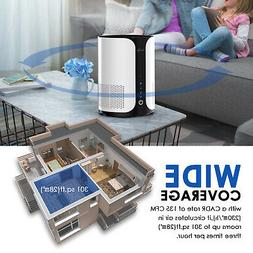 Desk Air Purifier for Home w/ Fan Speeds, Aromatherapy, Time