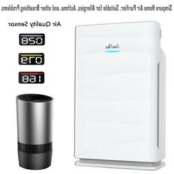 H13 True HEPA Home Air Purifiers Large Room Air Cleaner for