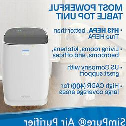 Air Purifier for Home with True HEPA Filter,Cleaner 3 Fans T