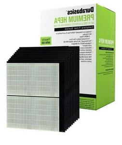 Durabasics HPA100 Compatible HEPA Filter Set  2 HEPA & 10 Ca