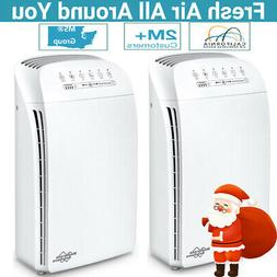Quiet Air Purifier Large Home Smokers Allergies & Pet Hair T