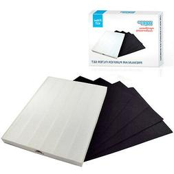 True HEPA +4 Carbon Filter Set for Electrolux EL480A EL490A